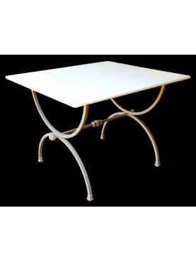 Rectangolar wrought-iron table Porcinai