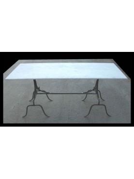 Tavolo in marmo 177 CM con cavalletti in ferro