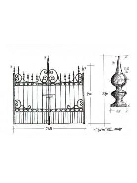 Iron gate 265 cm large