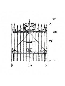 Iron gate 235 cm large