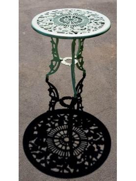 Tavolino rotondo Ø66cm in ghisa con le rose