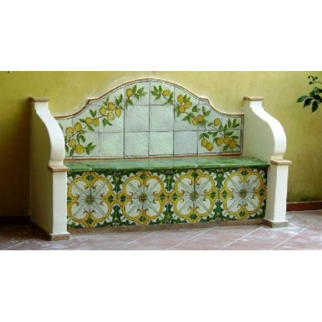 Majolica bench