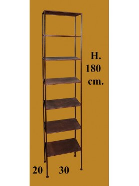 Vertical library - height 180 cms - with 7 tiers