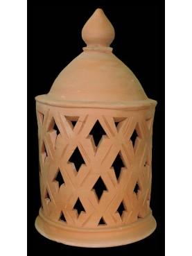 Lanterna marocchina in terracotta H. 54 cm.