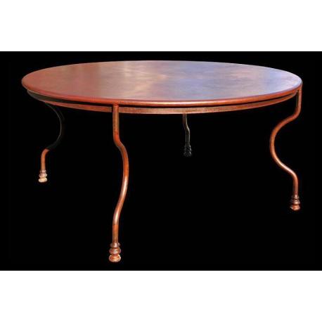 Tavolo in ferro Ø147cm rotondo minimalista