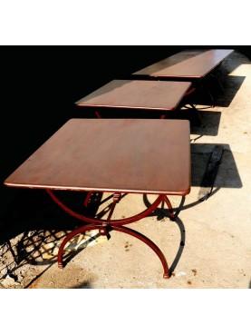 3 assemble rectangular tables - 4,5 m long