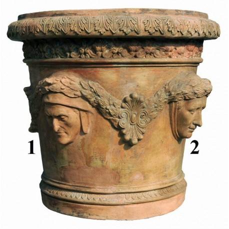 1 Dante; 2 Petrarca - Conca patinata