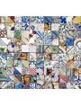 Purely indicative patchwork with old tiles in maiolica cutted 6,2x6,2 cms