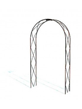 Forged iron Arches with cross pattern