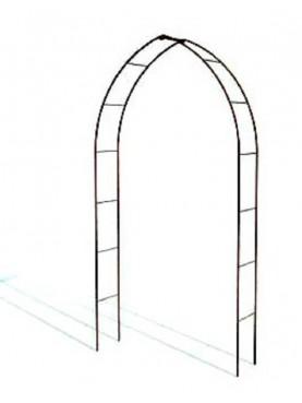 Archetto gotico a sesto acuto ferro-battuto