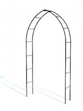 Gothic Arches forger-iron climbing plants