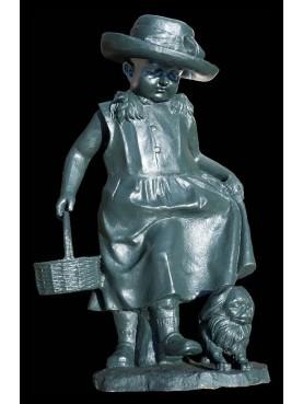 Piccola statua in ghisa