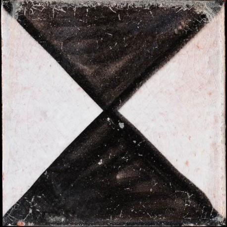 Piastrelle Berbere 9,5x9,5cm Clessidra Manganese