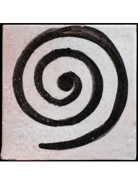 Berber Tiles 9,5x9,5cms the spiral