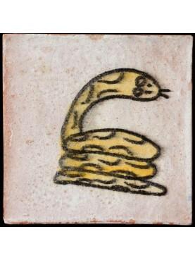 Piastrelle Berbere 9,5x9,5cm serpente a sonagli