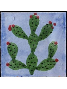 Piastrelle Berbere 9,5x9,5cm fichi d'india