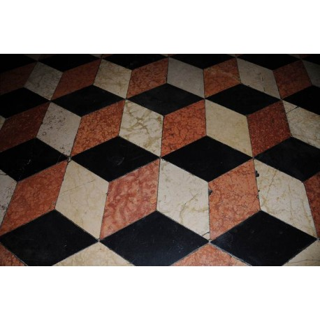 Optical illusion floor tiles