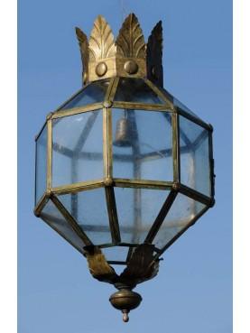 Grande lanterna Italiana ottagonale in Ottone
