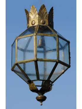 Great Italian octagonal brass lantern