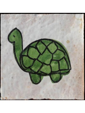 Berber Tiles the turtle 9,5x9,5cms