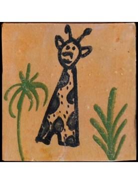 Piastrelle Berbere 9,5x9,5cm la giraffa del Niger