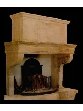 Franch fireplace with base and trumeaux