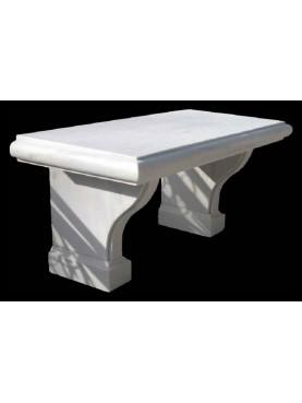 White marble benche