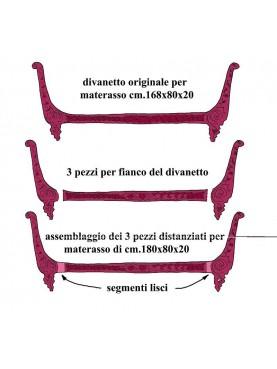 Divanetto Francese in ghisa da 209 cm