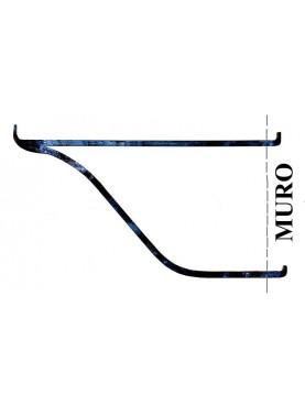 Mensola in ferro battuto semplice minimalista