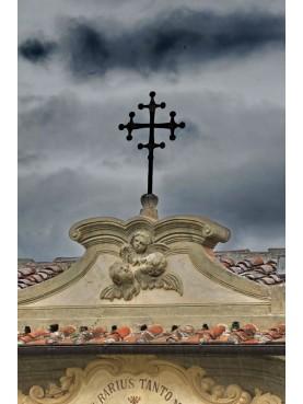 Croce lobata Pisana in ferro