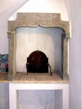 Small Controcappa fireplace
