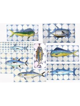 Selezione Pannelli con pesci azzurri