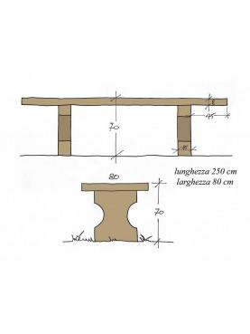 Tavolo in pietra di ns produzione 250 cm