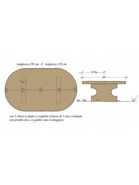 Tavolo in pietra di nostra produzione 250 cm