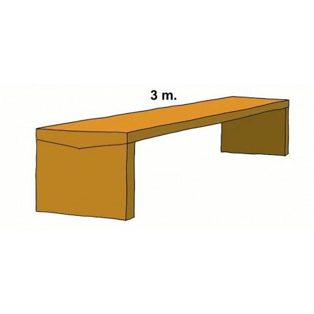 Grande tavolo in pietra sagomata 3 m.