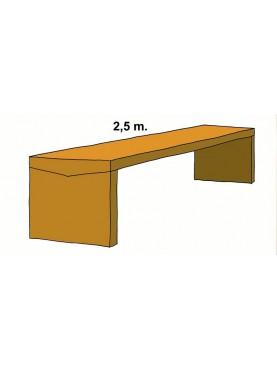 Grande tavolo in pietra sagomata 2,5 m.