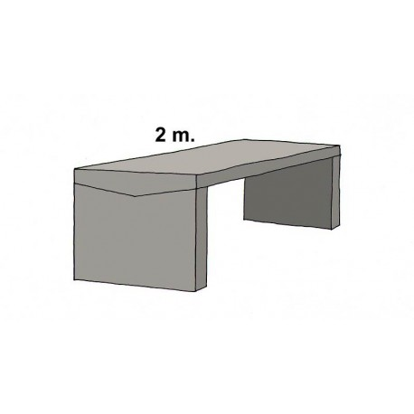 Grande tavolo in pietra sagomata 2 m.