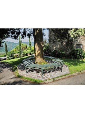 Large octagonal tree bench - forgediron