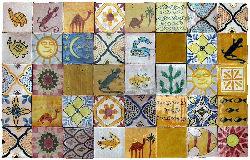 Piastrelle marocchine berbere recuperando
