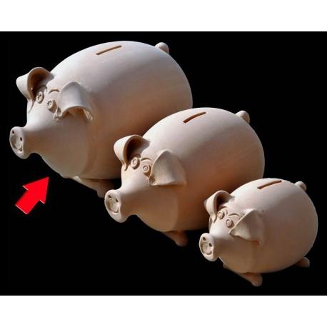 Terracotta pig moneybox big