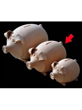 Terracotta pig moneybox medium