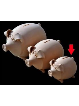 Terracotta pig moneybox little