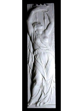 Chalk bas-relief winged figure