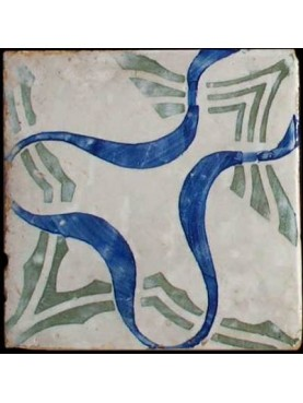 Ancient majolica tile