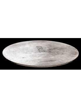 Sculpted marble round table
