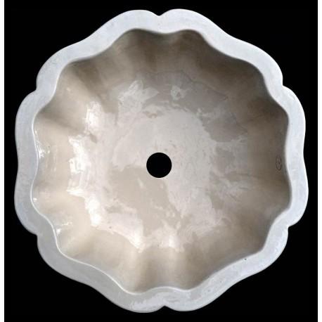 Lavandino in terracotta maiolicato