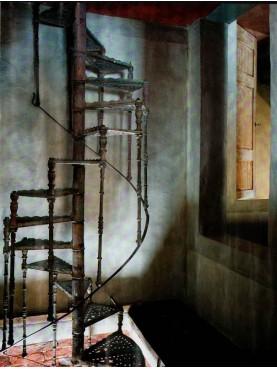Maremma cast iron spiral staircase