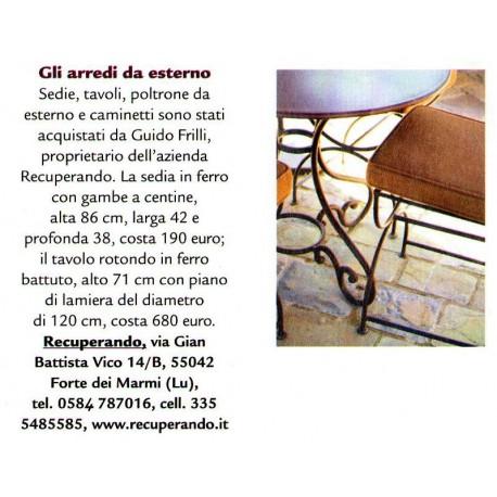 Castiglion del Bosco - Versilia Iron chair