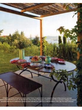 Panchettini in ferro e tavolo a centine