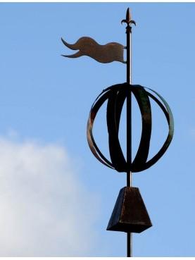Banderuola con sfera e tronco di cono